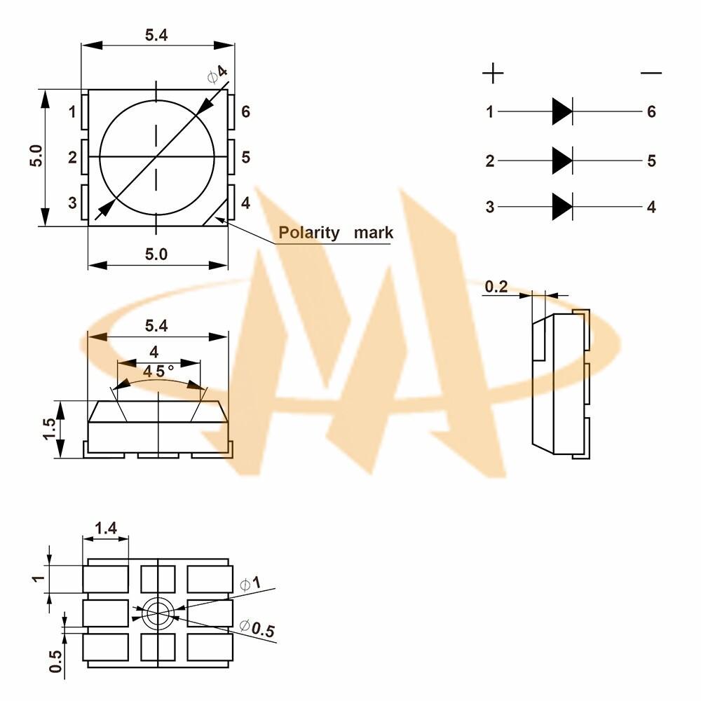 High Output Smd 5050: SMD LED MLT-SMD-5050-XX020RGB